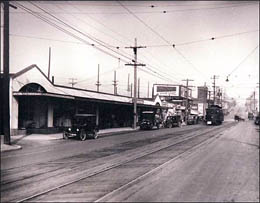 California Avenue business district, West Seattle Junction, ca. 1910 Courtesy MOHA