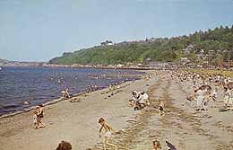 Alki Beach, West Seattle, ca. 1970 Postcard
