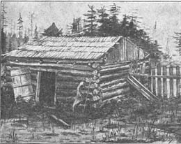 First home on Alki Point built in 1851 Courtesy A.A. Denny, Pioneer Days on Puget Sound