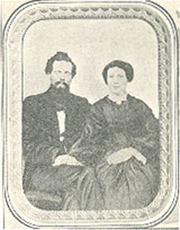 Charles Terry and Mary (Russell) Terry Courtesy A.A. Denny, Pioneer Days on Puget Sound
