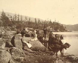 An outing near Alki Point, ca. 1889 Courtesy UW Special Collections (Boyd Album No. 34)